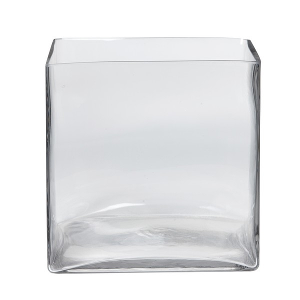 Accubak glas groot vierkant 20 cm heavy glas