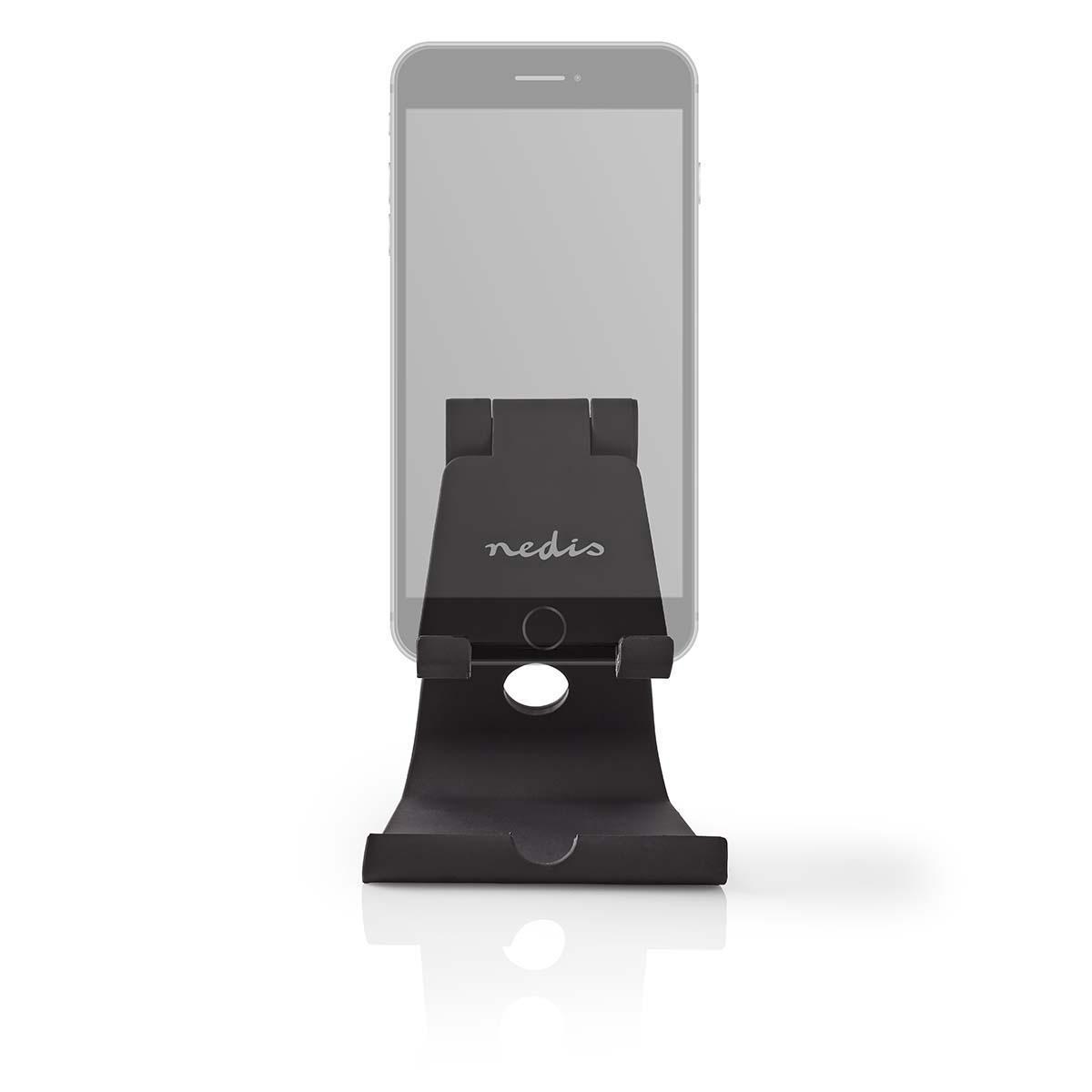 Smartphone/tabletstandaard Instelbaar Zwart